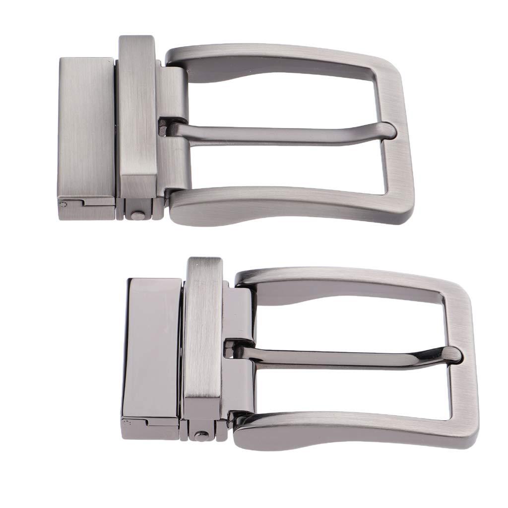 B Baosity 2 Pezzi Fibbia Ardiglione Singolo 33 a 34 mm Accessorio Cintura Per Uomo Ragazzo