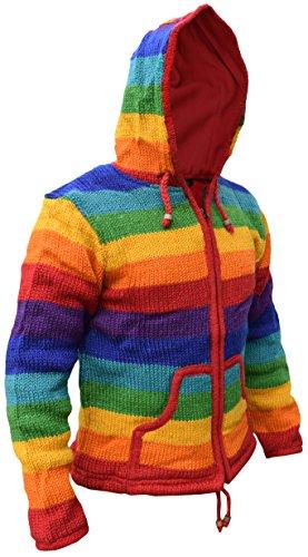 nbsp;– Little nbsp;giacca Denace Festival Con Cappuccio Giacca Lana Stripy Rainbow Menace Kathmandu Di 1qqHF
