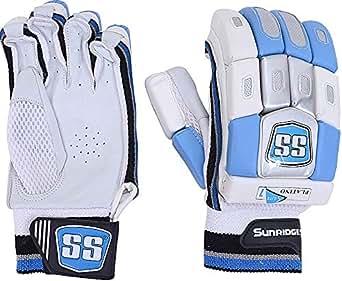 Ss Sunridges Platino Soft Fill Batting Cricket Gloves 1 Pair - White/Light Blue 10040017, For Unisex