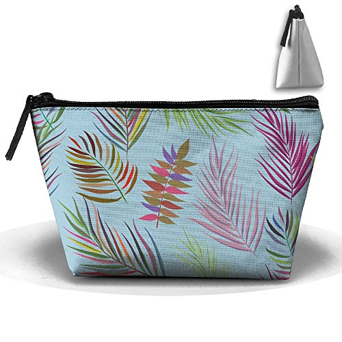 VIMUCIS Portable Printed Trapezoid Zippered Bag Colorful Leaves Toiletry - Shopping Thorne Bella