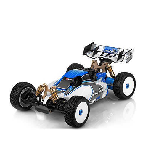 Team Energy G8X 1/8 Scale .21 Nitro Powered Ready to Run Racing Buggy Dimension GT3X AFHDS 2.4ghz 3 Channel Radio System RC Remote Control Radio Car ()