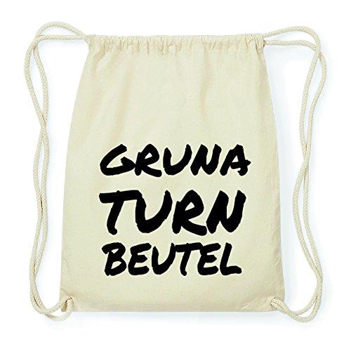 JOllify GRUNA Hipster Turnbeutel Tasche Rucksack aus Baumwolle - Farbe: natur Design: Turnbeutel