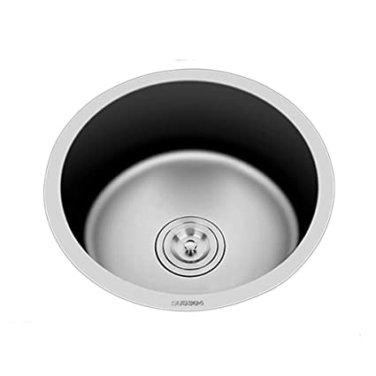 Amazon.com: Kitchen Sinks Kitchen Sink Round Thick Sink ...