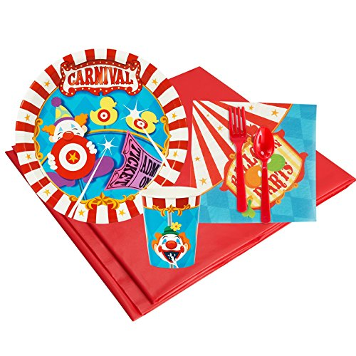 Carnival Games Party Supplies - Party Pack for 8 (Elephant Tamer Costume)