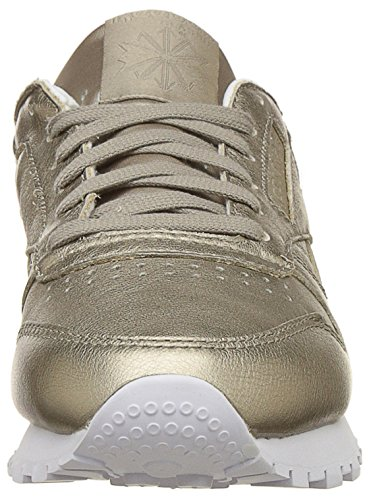 Leather Reebok Melted Sneakers Metals Womens Classic Metallic Metallic H5Tqg