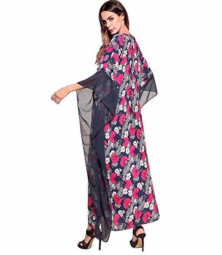 Vestire Ed Abito Casual Estate Ladies' Abbigliamento V Collare Irregolare YUCH 3 Stampati Primavera Y6gBnO