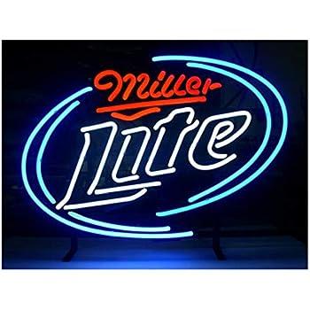 New Miller Time Miller Lite Neon Light Sign Display Beer Bar Pub