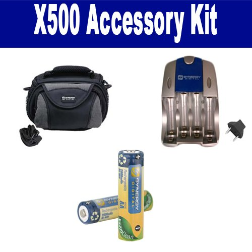 GE X500 Digital Camera Accessory Kit includes: SDC-26 Case, SB257 Charger