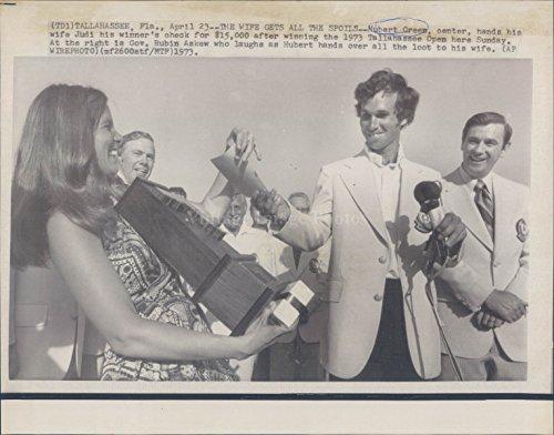 1973 Photo Nubert Green Judi Wife Winner Money Tallahassee Governor Rubin - Governor Tallahassee