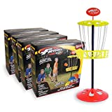 Wham-O Mini Disc Golf Basket 4 Pack With Mini Frisbees