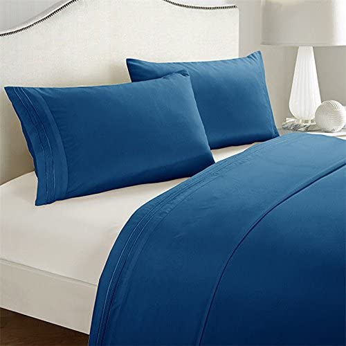 Egyptian Comfort Luxury Hotel 1800 Count Deep Pocket Bed Set King Aqua Blue