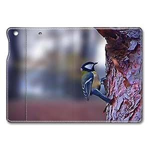 Brain114 iPad Mini Case - Fashion Design Leather iPad Mini Stand Case Cover Bird On The Tree Leather Folding Case Cover for iPad Air Mini