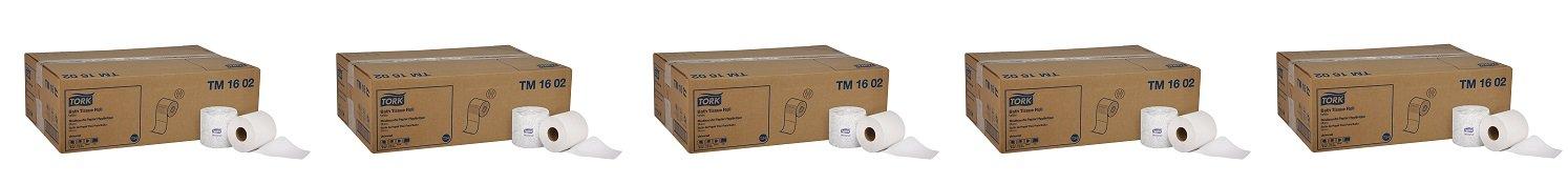 Tork Universal TM1602 Bath Tissue Roll, 2-Ply, 4'' Width x 3.75'' Length, White (Case of 48 Rolls, 420 per roll, 20,160 Sheets) (5-(Case of 48 Rolls))