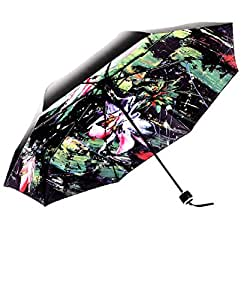 Compact Travel Umbrella with Windproof Double Canopy Construction - Sturdy, Portable and Lightweight for Easy Carrying - Auto Open Close Button for One Handed Operation - Lifetime Guarantee