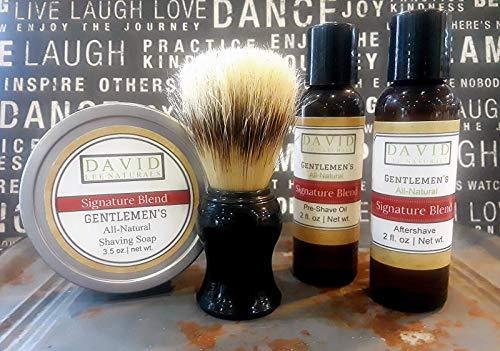 Gentlemen's All-Natural Shave Set (6 Varieties)
