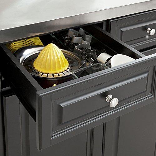 Sobuy® Neu Luxus-Küchenwagen Mit Edelstahlplatte,Servierwagen