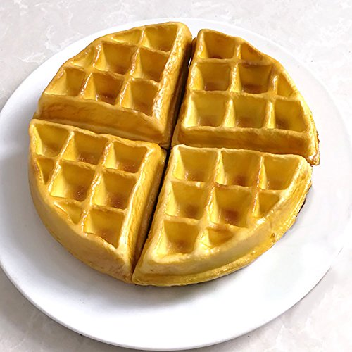 Nice purchase Artificial Fake Cake Food Simulation Realistic Imitation Faux Waffle Cake Replica Pastries Dessert for Decoration Display Toy Props Model Kitchen Party Present ()