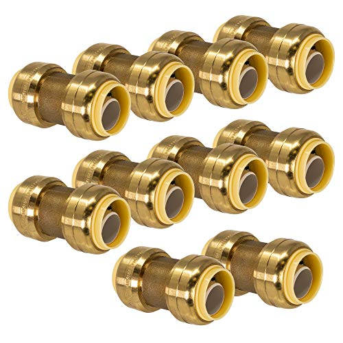 - PROCURU 3/4-Inch Push-Fit Coupling - Plumbing Fitting for Copper, PEX, CPVC, Lead Free Certified (3/4