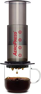product image for AeroPress Coffee and Espresso Maker - Quickly Makes Delicious Coffee Without Bitterness - 1 to 3 Cups Per Pressing