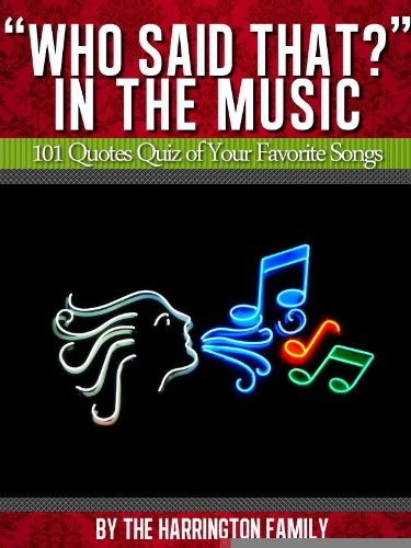 Who Said That In The Music 101 Quotes Quiz Of Your Favorite Songs