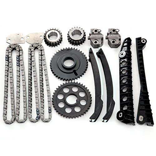 Ocpty Timing Chain Kit Tensioner Guide Rail Cam Sprocket Fits For 1999 2000 2001 2002 2003 2004 Ford F 350 Super Duty 97 99 F 250 5 4l V8 Tk6054