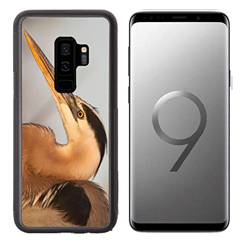 Heron Blue Case - MSD Samsung Galaxy S9 plus Aluminum Backplate Bumper Snap Case Great Blue Heron Ardea Herodias standing in a marsh Image 37149106 Customized Tablemats