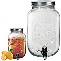 (3.5 L) - Large 3.5L Glass Tabletop Drink