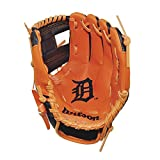 "Wilson A200 10"" Houston Astros Glove Right Hand Throw, Navy/Orange"