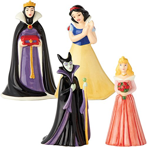 (Set) Disney Snow White & Evil Queen + Sleeping Beauty Salt & Pepper Shakers