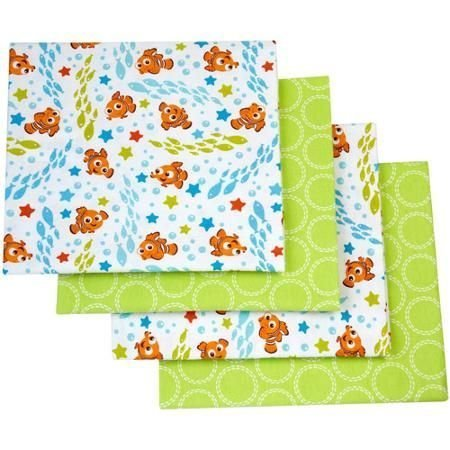 Disney Finding Nemo Flannel Blanket, 4-Pack