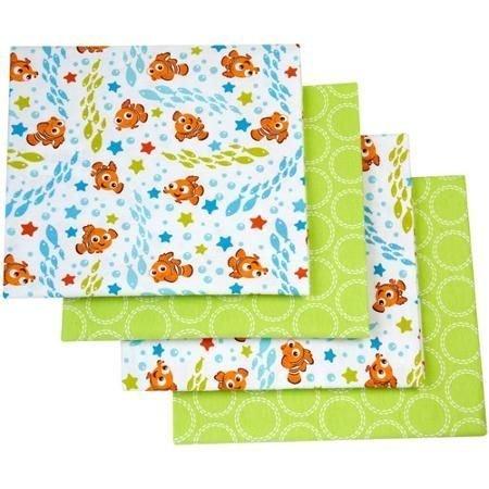Disney Finding Nemo Flannel Blanket, 4-Pack