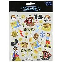Tattoo King Multi-Colored Stickers-Pirates Glitter