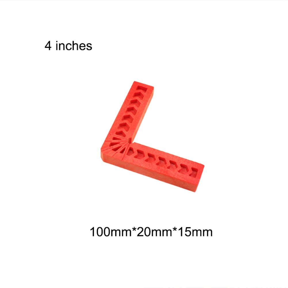 Trkee 90 Degree Positioning Squares Plastic Clamping Square Right Angle Clamp Woodworking Carpenter Tool