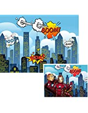 Super Hero City Backdrop for Baby Kids Birthday Party Photography Pictures Wall Decor Vinyl Background Photo Booth FW285