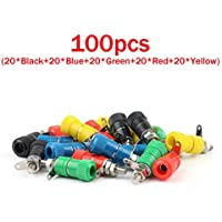 Areyourshop 100 Pcs Binding Post Speaker Cable For Banana Plug Length 33mm