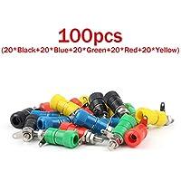 Areyourshop 100 Pcs Binding Post Speaker Cable For Banana Plug Length 33mm