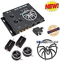 Soundstream BX-10 Digital Bass Reconstruction Processor with Remote W/ Soundstream TWT.5 1 TWT Series PEI Dome Tweeters