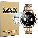 Suoman 3-Pack for Fossil Women Gen 5 Julianna Screen Protector Tempered Glass for Fossil Women Gen 5 Smartwatch [2.5D 9H Hardness] [Anti-Scratch] [Bubble-Free]
