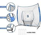 JOGENMAX 7x7 DLX Practice Net + Deluxe Tee + Ball
