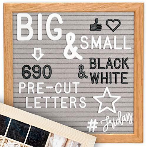 Letter BoardCursive WordsStandUpgraded Wooden
