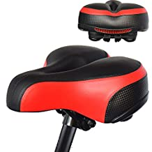 Bicycle Saddle Most Comfortable Bike Seat with Dual Shock Absorbing Ball Cushion Padded Bicycle Saddle for Men Women Replacement Bike Seat for MTB, Road Bike and Other Indoor Outdoor Bikes