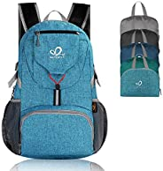 WATERFLY Hiking Backpack 20L Foldable Travel Backpack Lightweight Hiking Daypack for Outdoor Cycling Camping