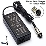 MX350 E100 36W Electric Scooter Battery Charger for Razor E175 E200 E200S E125 E225 E300 E325 E350 E400 E150 E500 PR20 MX400 ZR350 E500S, Pocket Mod, Sports Mod and Dirt Quad 3-Prong Inline-24V 1.5A