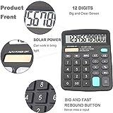 Calculators, BESTWYA 12-Digit Dual Power Handheld