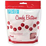 PME Candy Buttons - Red. 340 grams / 12 Oz. Like Wilton Melts. Perfect for Cake Pops and other Candy & Chocolate Making. By The Baker Shop