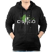 Counter Strike Global Offensive Zipper Sweatshirts For Men Black