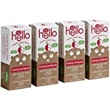 Hello Oral Care Fluoride Free Toddler Training Toothpaste, Organic Apple, 4 Count