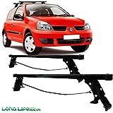 Rack Long Life Em Aço Para Carros Sem Calha Renault Clio - 2 Portas (A Partir De 2004)