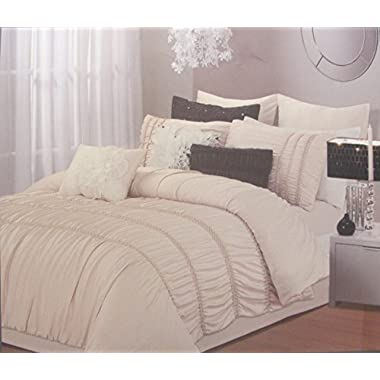 Chic Home Romantica 5-Piece Comforter Set, King, Taupe