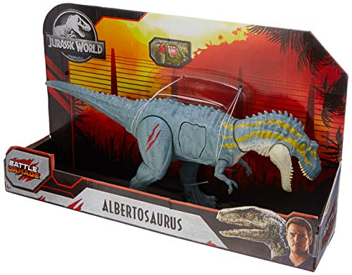 Dinossauro Articulado - 21 cm - Jurassic World - Combate Letal - Albertosaurus, Multicor, Mattel